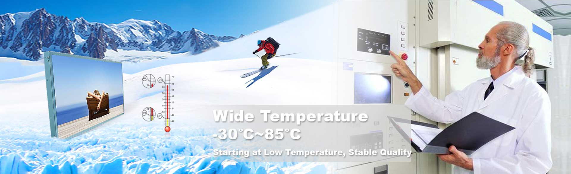 Wide Temperature Range LCD Monitors