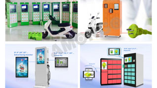 Amongo's Industrial Displays Used in IoT Applications (Parcel Locker, EV Battery Exchanging Stations)