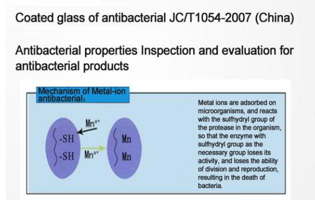 inspection and evaluation for antibacterial products